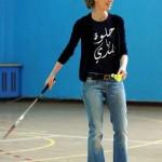 همسر رئیس جمهور سوریه در حال بازی بدمینتون