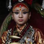دختری زیبا که به عنوان الهه نپال انتخاب شد