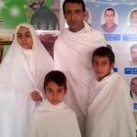 عکسی از رضا عنایتی و همسر و پسرانش