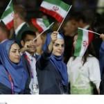 کاروان اعزامی المپیک ایران در افتتاحیه+عکس