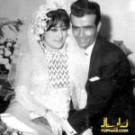 عکسی از ازدواج پرویز یاحقی و خواننده زن لوس آنجلسی
