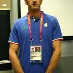 عکس پرچمدار المپیک ایران در مراسم افتتاحیه