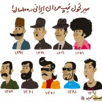 سیر تغییر تیپ مردان ایرانی در صد سال اخیر+عکس