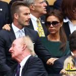عکس های دیوید بکهام و همسرش ویکتوریا در ویمبلدون