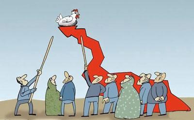 کاریکاتور مرغ