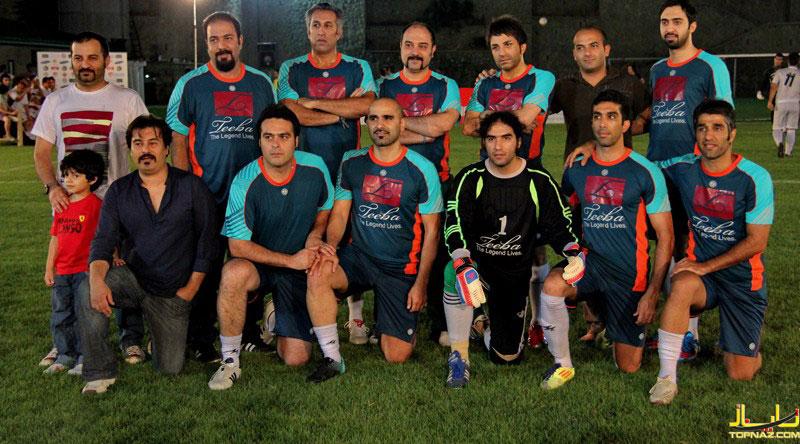 عکس دسته جمعی بازیگران و خوانندگان در بازی فوتبال جام ستاره ها رمضان ۹۱