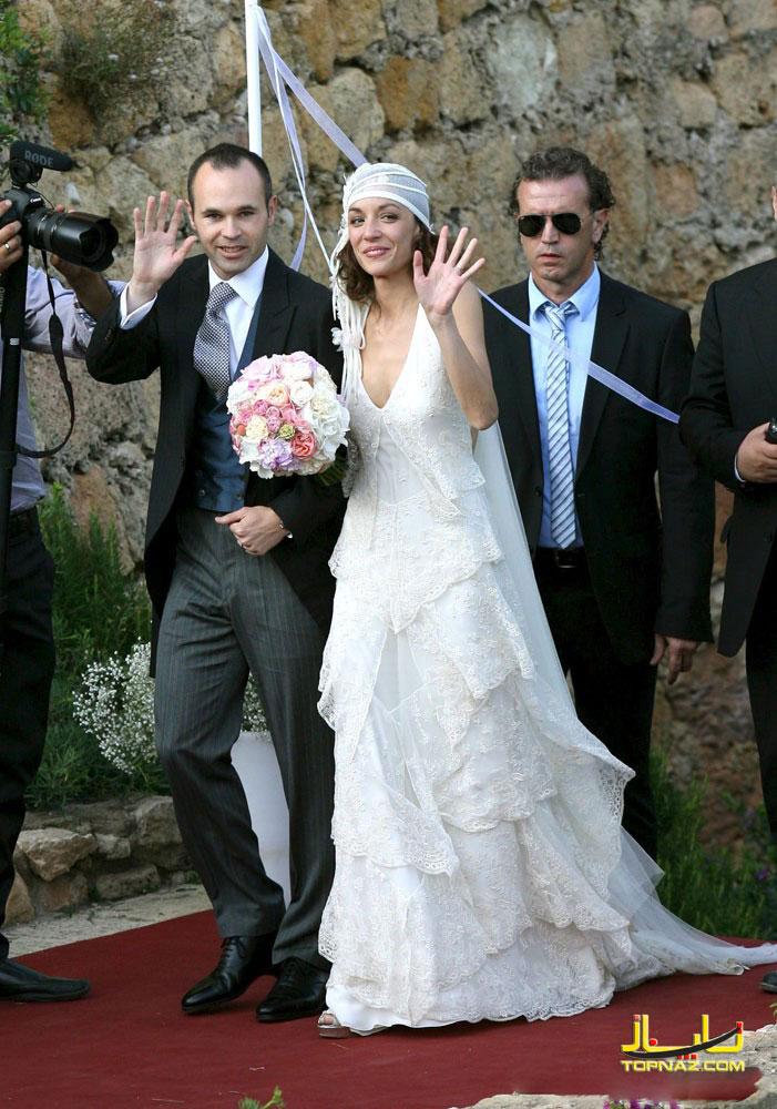اینیستا و همسرش