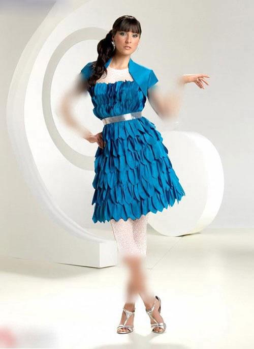 الگوی لباس کوتاه زنانه