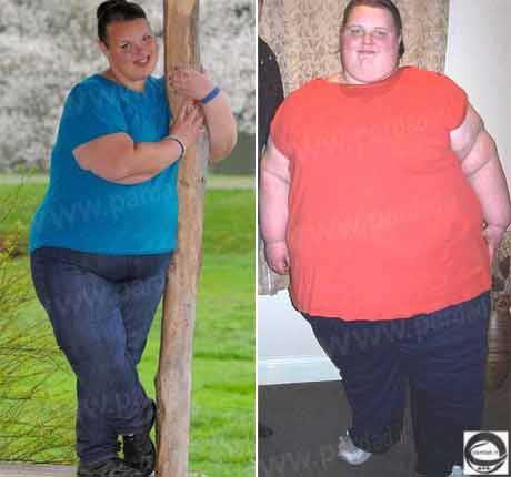 تلاش چاق ترین دختر بریتانیا برای کاهش وزن