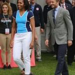 عکسهایی از دیوید بکهام و همسر اوباما در لندن