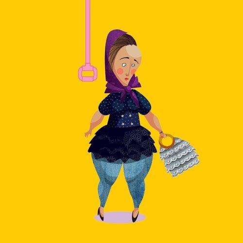 کاریکاتور زن