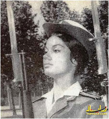 بانوی نظامی ارتش ایران سال 1347