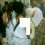 دختری نیمه برهنه در مسجدالحرام+عکس