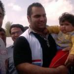 بهداد سلیمی و همسرش در مناطق زلزله زده+عکس