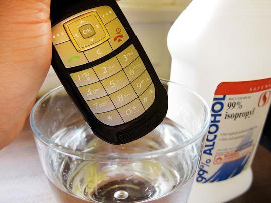 موبایل خیس