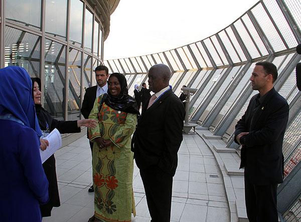 همسران سران در برج میلاد