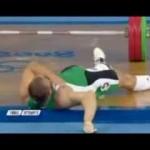 کلیپ حادثه ای تلخ برای ورزشکار وزنه برداری المپیک