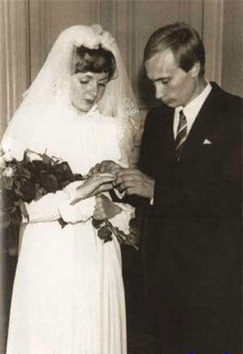 ولادیمیر پوتین و همسرش