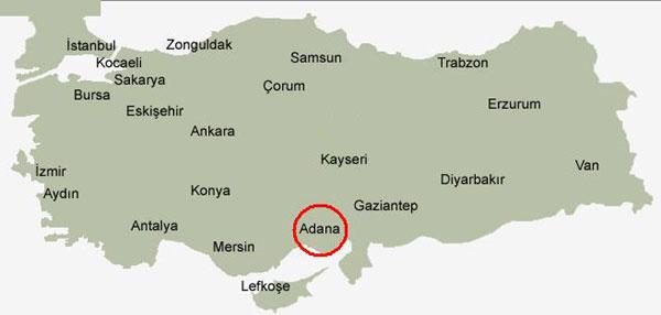 نقشه آدانا