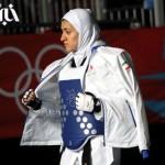 تصاویری از مبارزه سوسن حاجی پور بانوی تکواندوکار