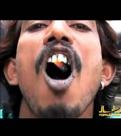 خوردن ذغال گداخته