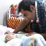 حامد کمیلی و عیادت از کودکان سرطانی+تصاویر