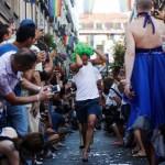 مسابقه دو با کفش های پاشنه بلند+تصاویر