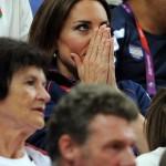 کیت میدلتون در حال تماشای مسابقات المپیک+عکس