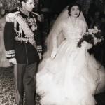 عکسی از مراسم عروسی محمدرضا پهلوی و ثریا بختیاری