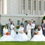 5 خواهر و برادر در یک روز ازدواج کردند+عکس