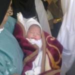 نوزادی که در زلزله ورزقان به دنیا آمد+عکس