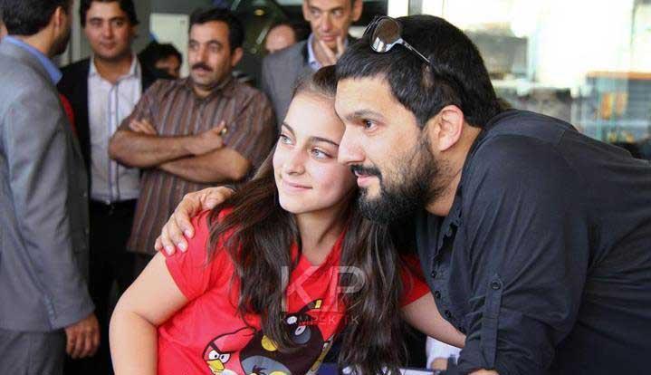 عکس حامد بهداد به همراه همسرش