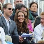 خانم کیت میدلتون و همسرش میان تماشاچیان المپیک+عکس