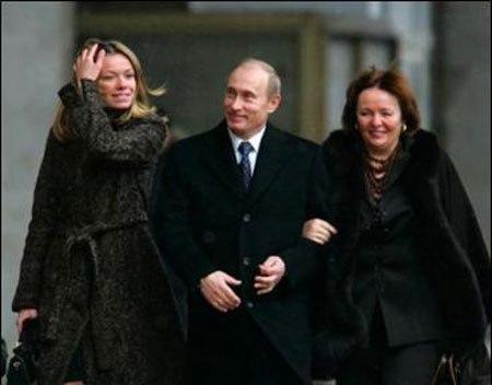 رئیس جمهور روسیه و همسرش