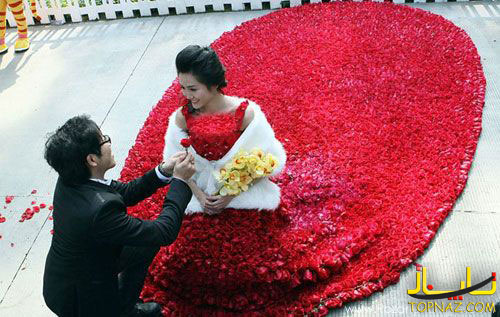 لباس گل رز
