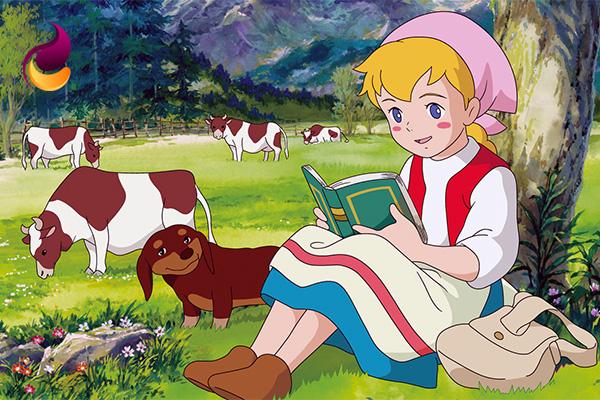 حنا دختری در مزرعه
