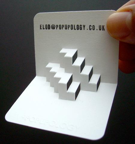 Pop Up Business Cards