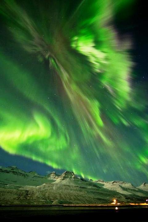 شفق قطبی, ایسلند