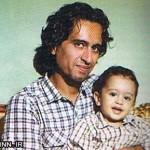 بازیگر «قصه های مجید» در کنار فرزندش+عکس
