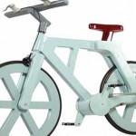 دوچرخه جالب از جنس کارتون+عکس