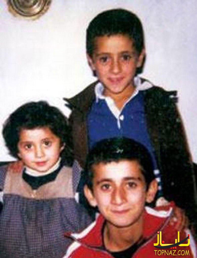 علی کریمی در کودکی