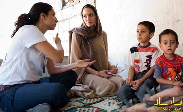 آنجلینا جولی در میان پناهندگان