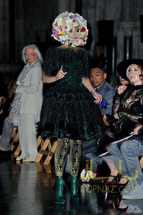 عکسهای جدید لیدی گاگا خواننده ی 26 سااله در Mercedes-Benz London Fashion Week Spring 2013