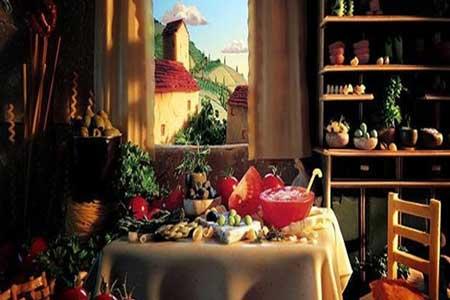 نقاشی با میوه و سبزیجات