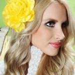 مدل آرایش مو با گل سر