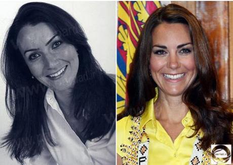 شباهت عجیب یک زن 32 ساله به کیت مدیلتون +عکس