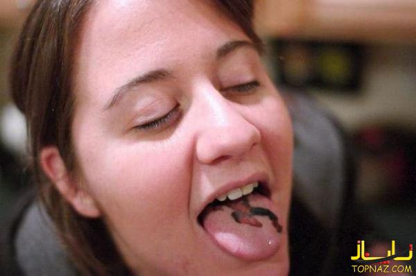خالکوبی روی زبان