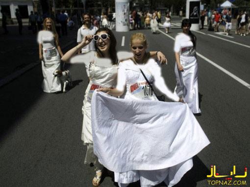 دو با لباس عروس
