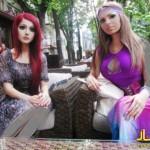 دختر اوکراینی با چهره و آرایش جالبش معروف شد+عکس