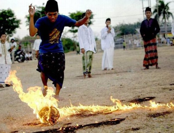 1125 Flaming Soccer in Indonesia